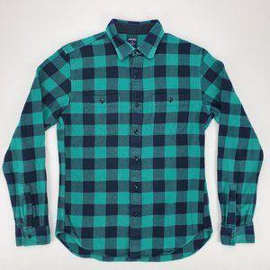 Mens Bonobos Flannel Slim Fit Plaid Shirt Medium